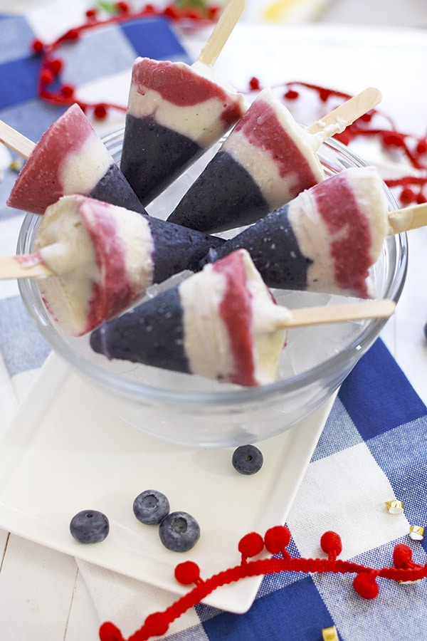 4th of July Layered Popsicles, Delineate Your Dwelling