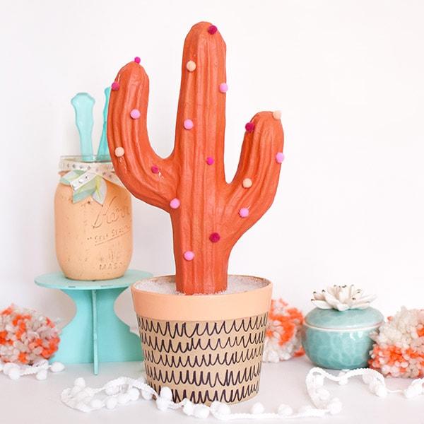 1-DIY Pom Pom Cactus