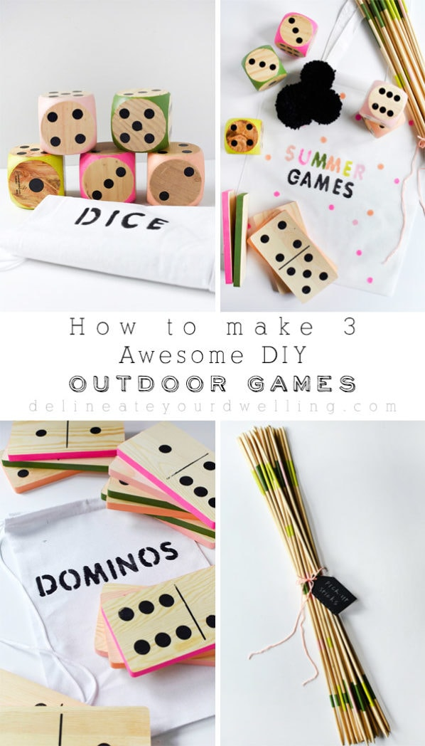 3 Awesome DIY Outdoor Games, perfect for family in the summer time! Delineate Your Dwelling