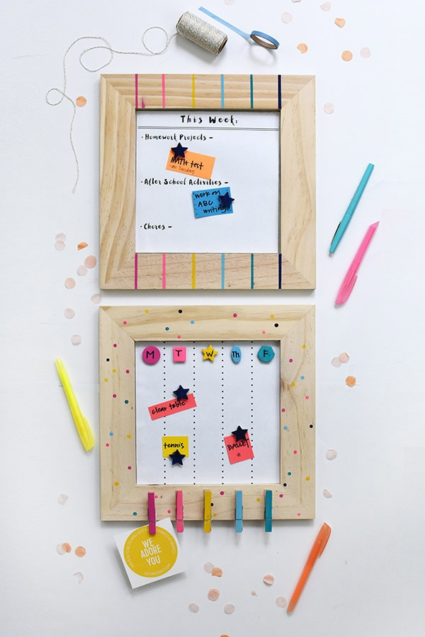 Wooden Frame Back to School Calendars