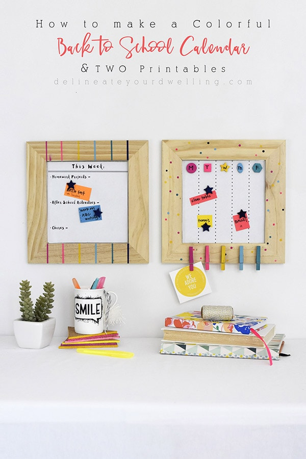 How to make a Colorful Back to School Calendar Delineate Your Dwelling