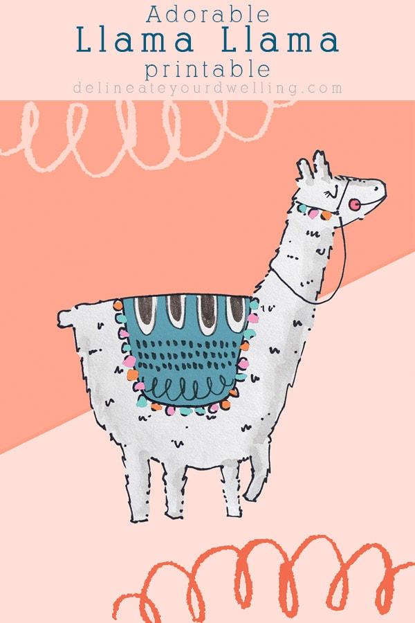graphic relating to Llama Printable known as Llama llama Printable - Delineate Your Residence