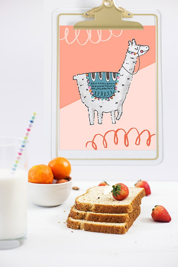 Adorable and whimsical Llama llama Print! Delineate Your Dwelling