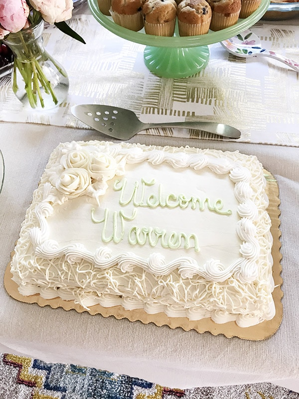 Simple Neutral Baby Shower ideas - White, Gold and Mint Green, Delineate Your Dwelling