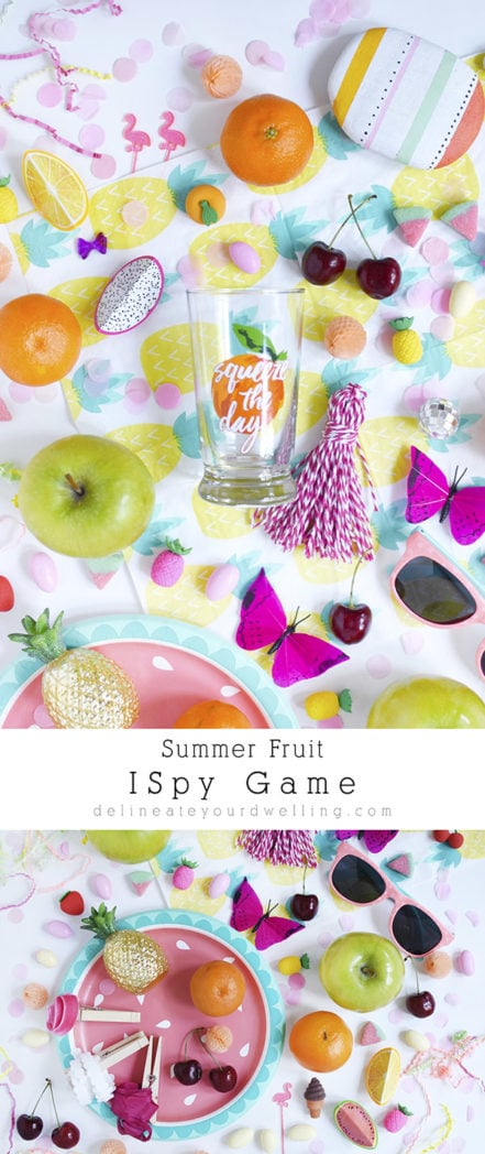 Summer Fruit ISpy game, fun for the whole family to play! Delineate Your Dwelling