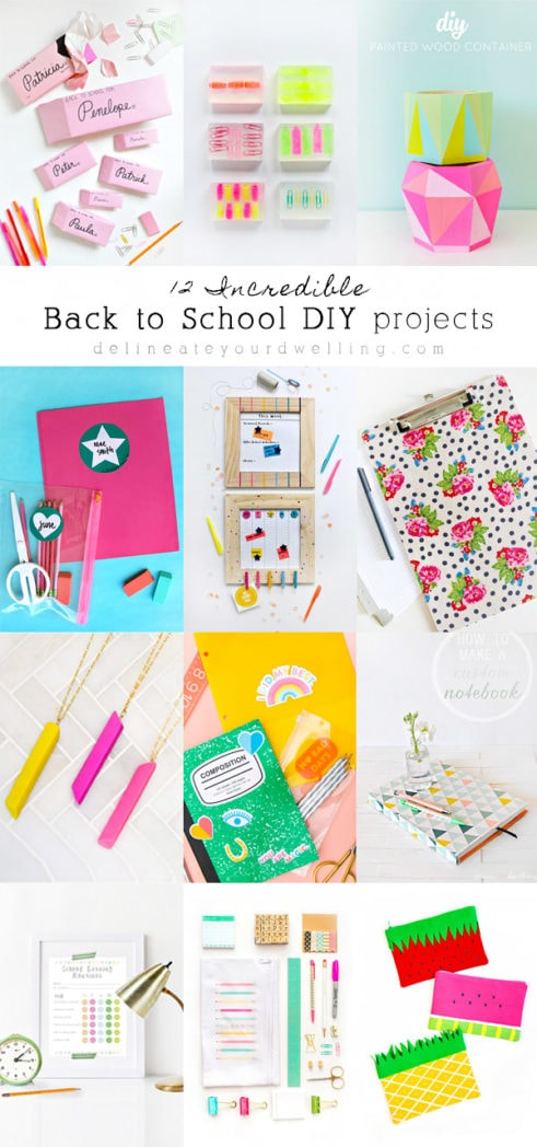 12 Incrediable Back to School DIY and craft projects, Delineate Your Dwelling