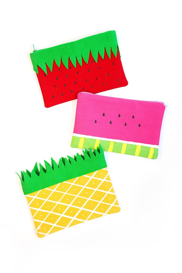 Fruit Pencil Pouches