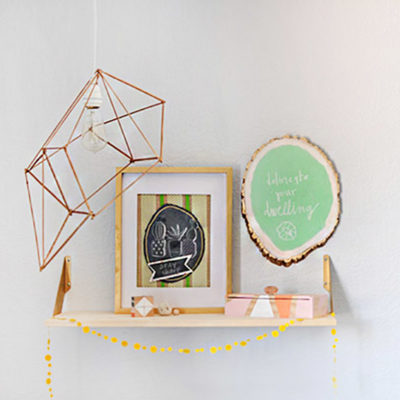 1-Geometric Pendant Lamp Anthro