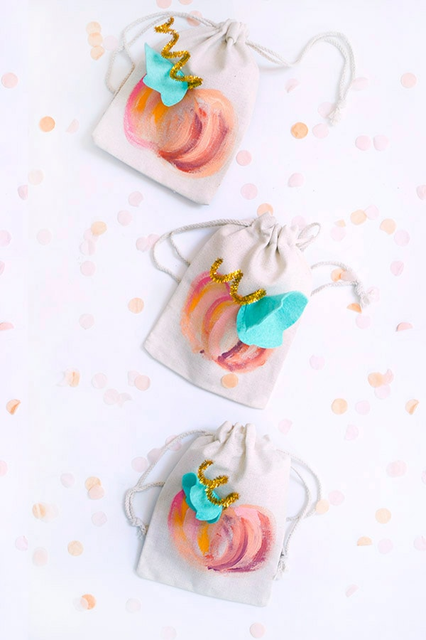 Painted Pumpkin Bags