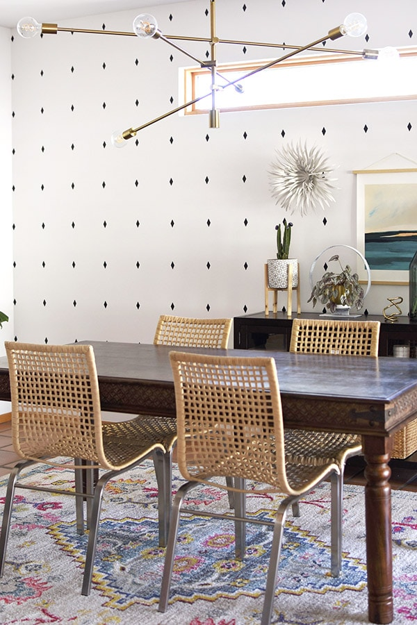Southwest Boho Dining Room Rattan Chairs