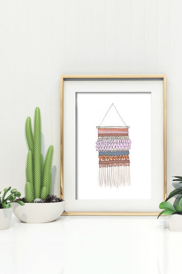 Full of texture and pattern, check out this fun Wall Weaving Printable, available for download! Delineate Your Dwelling
