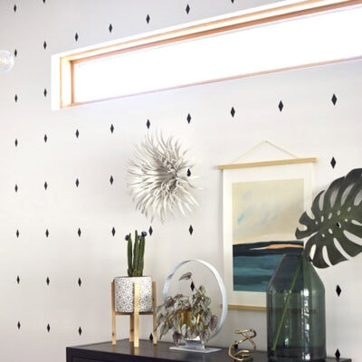 1-Diamond Wallpaper Pattern Decals