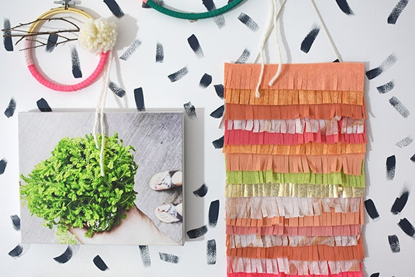 How to create a Fringe Felt Wall Hanging! Delineate Your Dwelling #feltcrafts