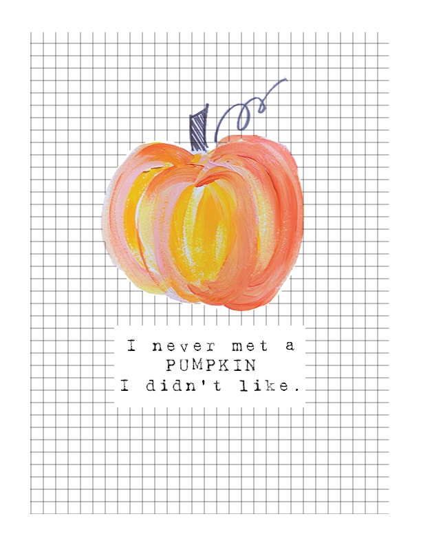 Fall Painted Pumpkin Printable