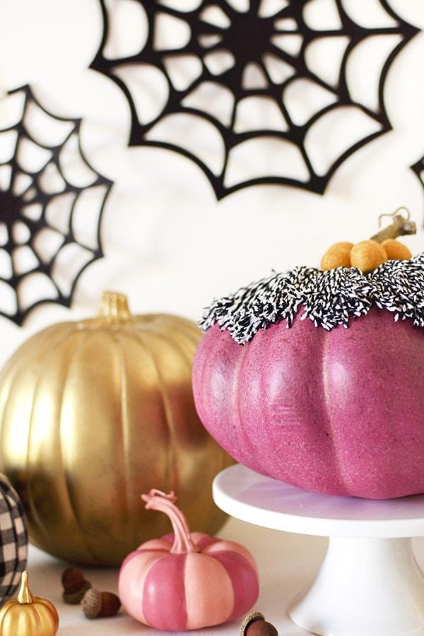 DIYvPurple Tassel Pumpkin