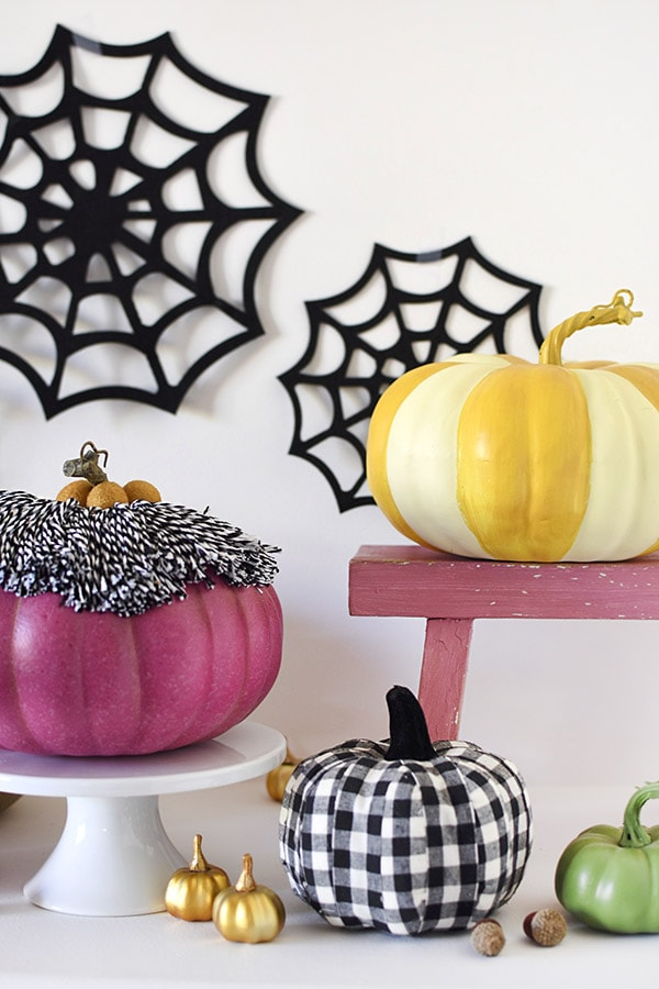 Spider Web Purple Tassel Pumpkin