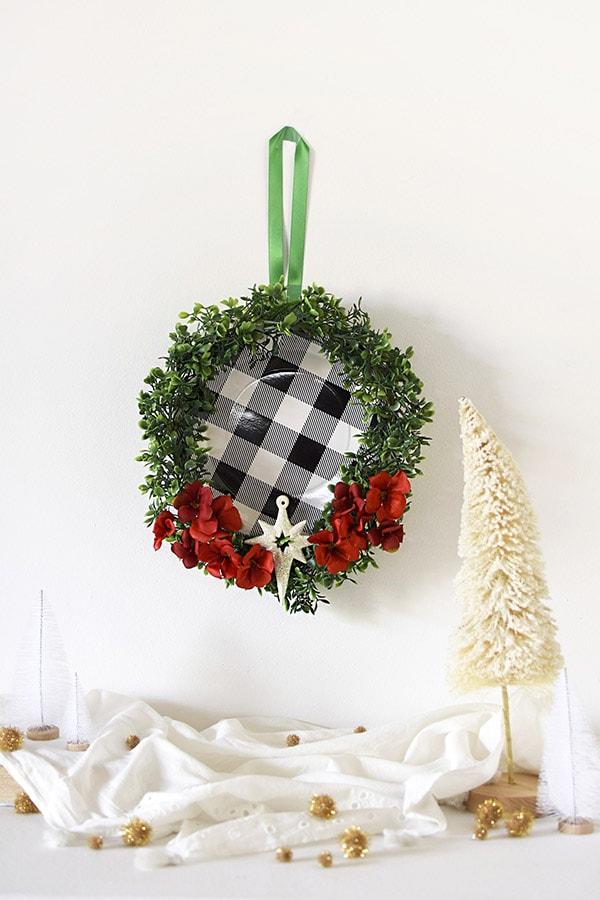 Buffalo Check holiday wreath