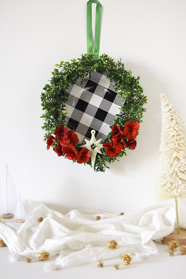 Black and White holiday wreath
