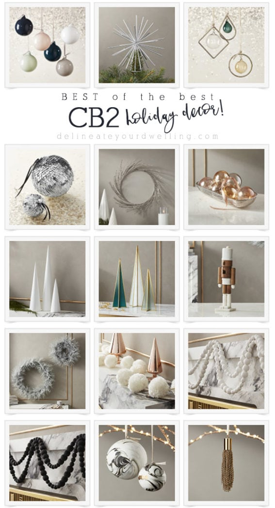 CB2 holiday decor