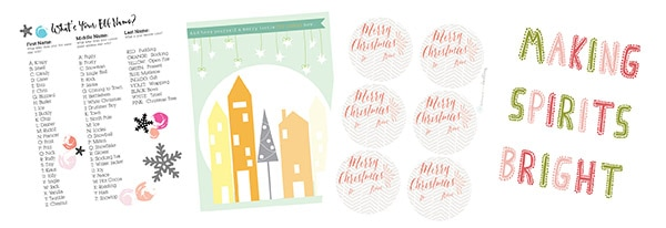 The BEST Holiday Prints, Gift Tags, Banners and a Holiday Shopping List, Delineate Your Dwelling