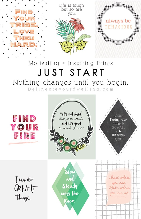 Nothing Changes until you begin. Gain insights to making your goals, creating actionable steps to make a plan and guidance along on your journey! Slow and Steady growth, Always be Tenacious, Find your Tribe and love them hard and many more prints included!! Ready to reach for your goals, carve time out for yourself and make those dreams a reality? My Just Start ebook will help you focus and get a plan going! Delineate Your Dwelling #DYDJustStart #goalmaking #selfcare