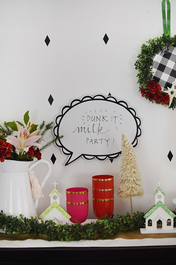 How to host a Milk Dunking Party this holiday and Christmas season! Delineate Your Dwelling #holidayparty