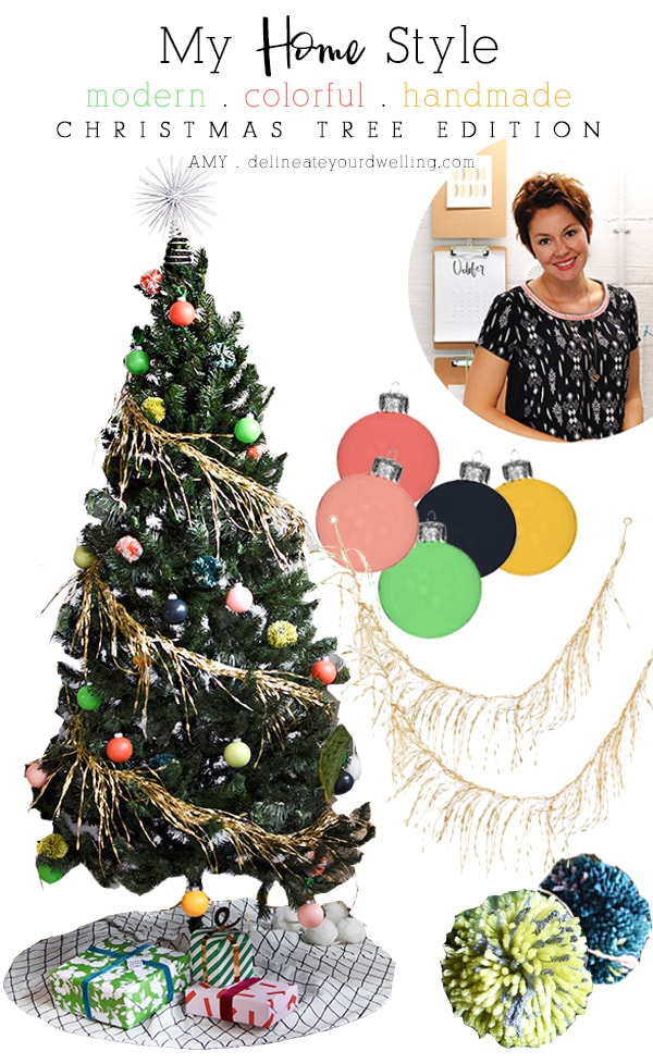 Modern Colorful Holiday tree