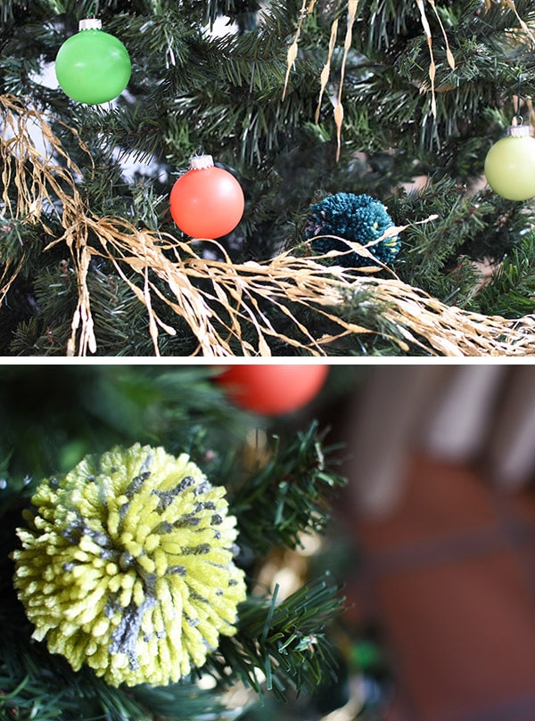 See how to create a Modern Colorful Christmas tree this holiday season! Delineate Your Dwelling #modernchristmastree