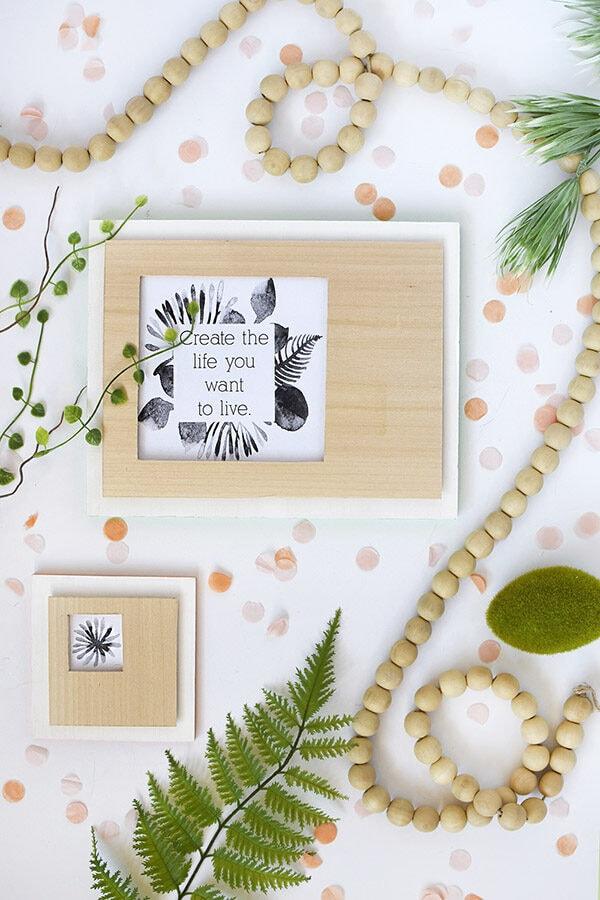 Wooden Cutout Frame