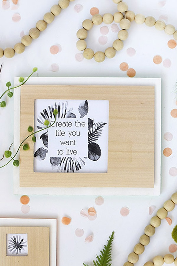 Wooden Cutout Frame simple