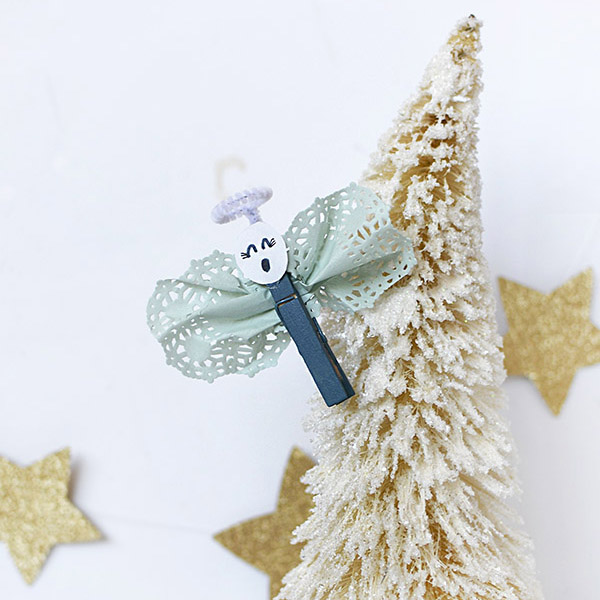 Fun Kid Craft Christmas Clothespin Angels