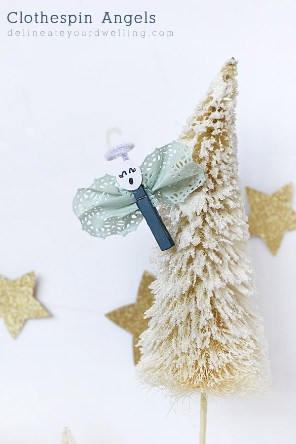 Fun to make Kid Christmas Clothespin Angel craft, Delineate Your Dwelling #kidchristmascraft