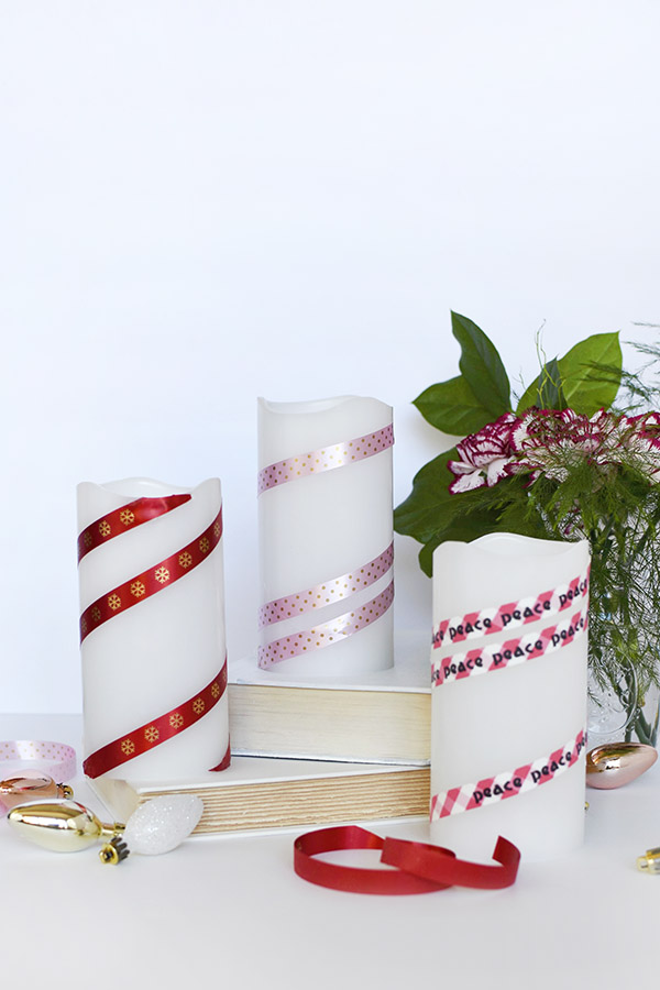 How to create a gorgeous custom Ribbon Candle for the Holidays! Delineate Your Dwelling