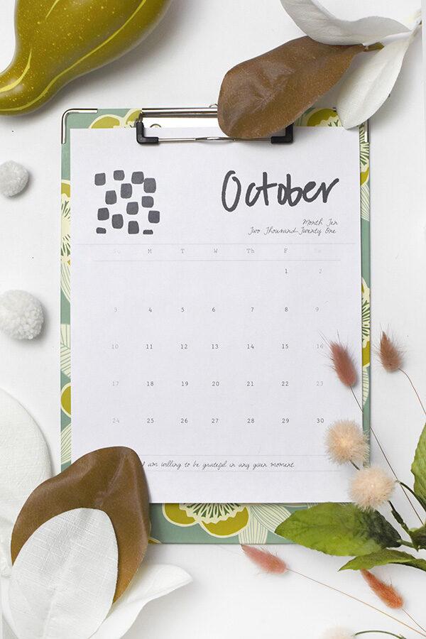 Free October 2021 Printable Calendar