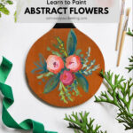 Painted Abstract Flowers on paddle