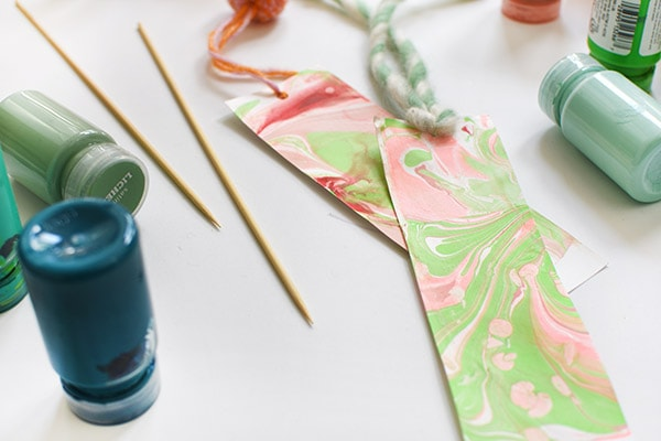 Acrylic Paint Marbling supplies