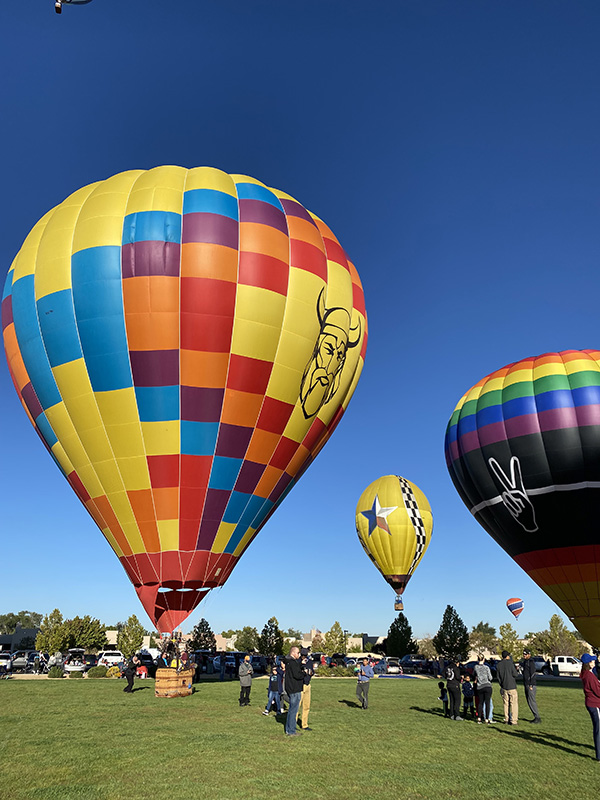 Brightly colored Hot Air Balloon