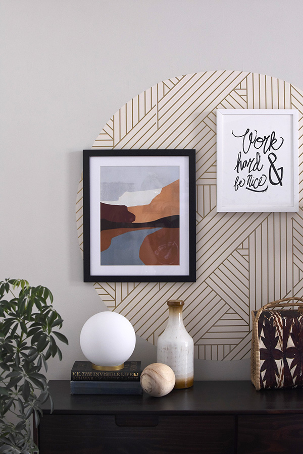 Accent Wall and Colorblock Art work