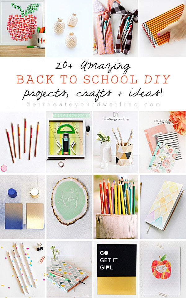 20 Amazing Back to School DIYs, craft projects and even some fun teacher gift ideas!