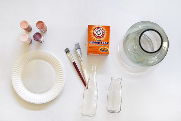 Baking Soda Paint supplies