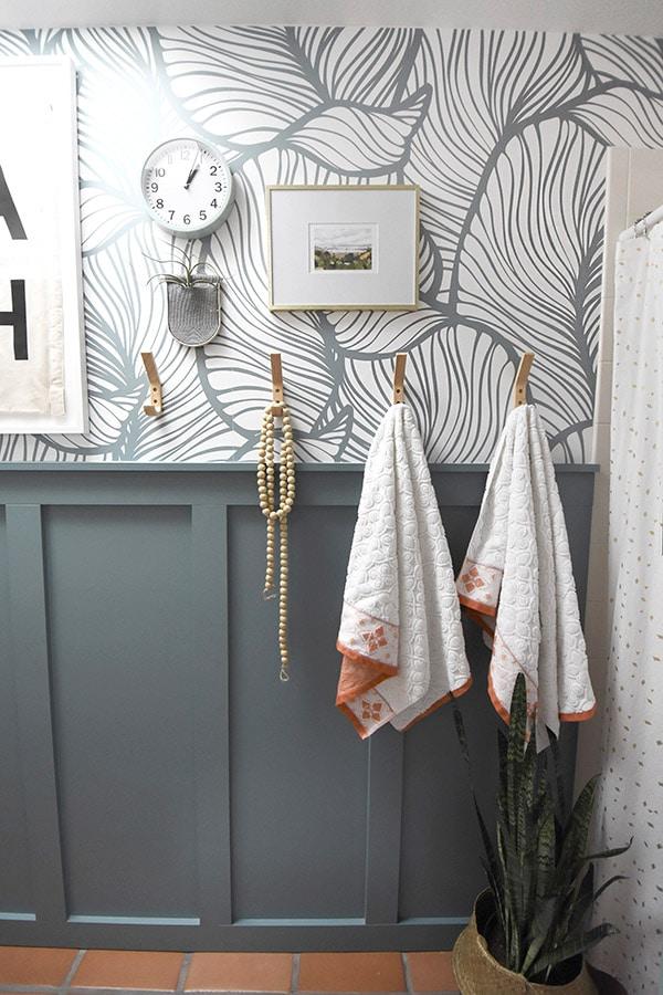 Modern Bathroom Board and Batten Wall