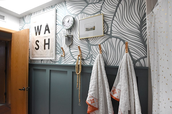 Guest Bathroom Reveal with WASH art