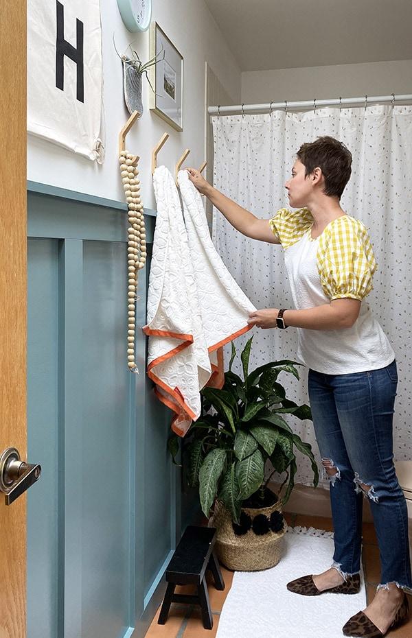 Hanging Bathroom Towel Board and Batten