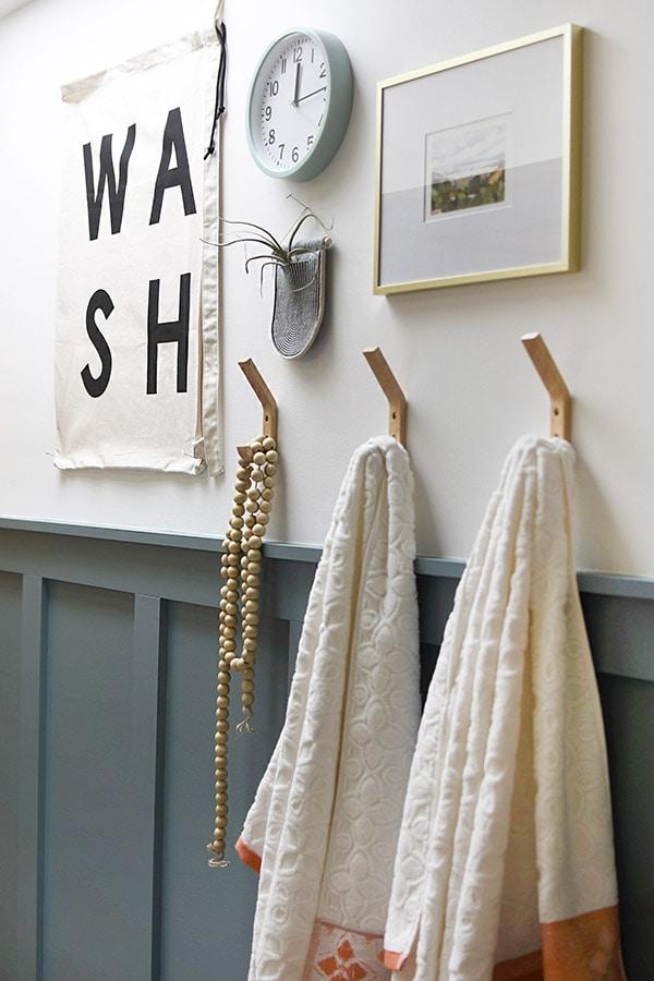 Bathroom Board and Batten Modern Teal Wall