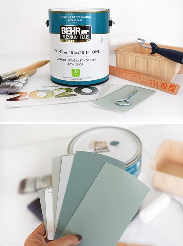 Bathroom Update-Behr Dragonfly teal Paint