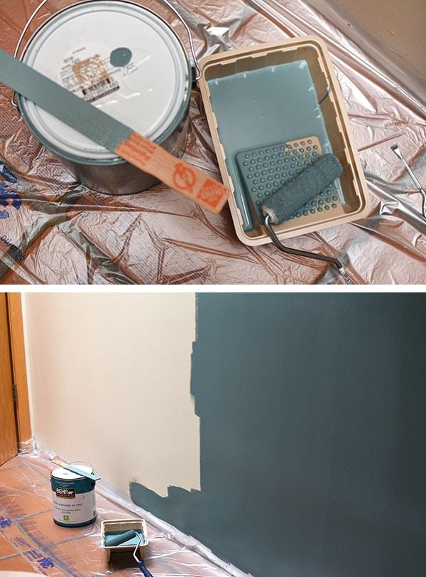 Bathroom Update-Behr-Paint Dragonfly teal