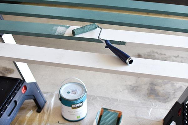 Bathroom Update-Behr-Step paint trim