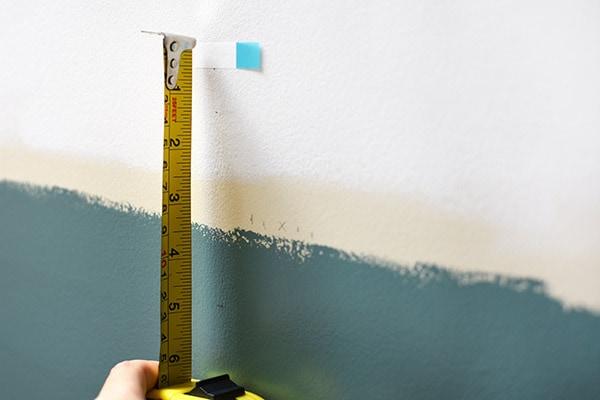 Bathroom Update-Behr-Step measure on wall