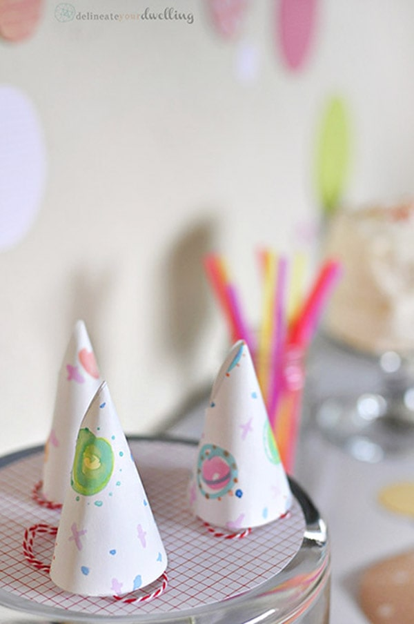 Party Paper Sprinkle Hats