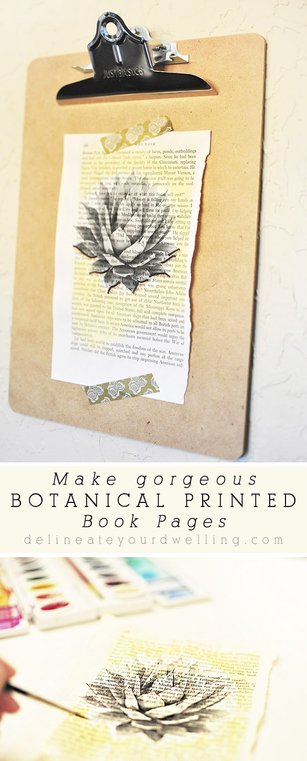 Botanical Book Page